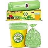 Shalimar Compostable/Biodegradable/Eco Friendly Garbage Bags (Extra Large) Size 76 cm x 94 cm 2 Rolls (20 Bags) (Trash Bag/Du