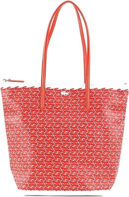 Lacoste L.12.12 Concept Croc Vertical Shopping Bag Orange Croc