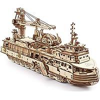 UGEARS Сonstruction Mecanique en Bois - Navire De Recherche Puzzle 3D Adulte - Maquette Bateau - Casse Tete Kit De…
