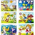YUESEN Mosaique Autocollante Enfant Kit Artisanal de mosaïques collantes pour Enfants, 6pcs Images séparées d'autocollant de