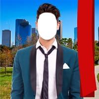 Stilvolle Mann Anzug Foto Montage
