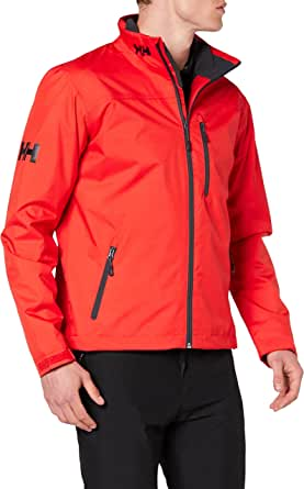 Helly Hansen Men's Crew Midlayer Waterproof Jacket - Waterproof, Windproof and Breathable Fabric, Full-Zip Jacket with Fleece Lined Collar