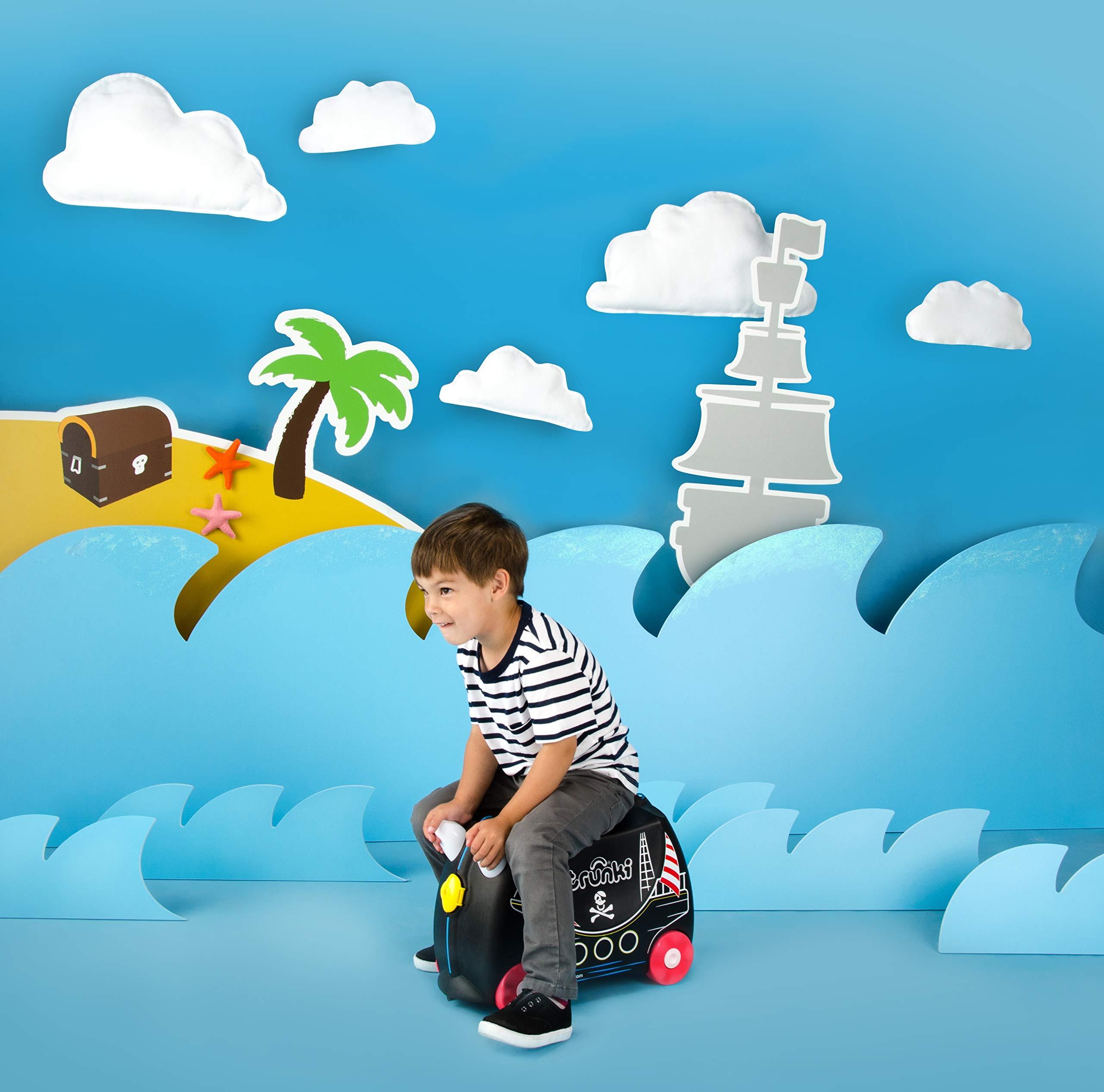 Trunki-Trolley-Kinderkoffer-Handgepck-fr-Kinder-Pedro-Piratenschiff-Schwarz