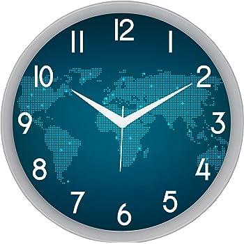 IT2M Designer Round Plastic Wall Clock (28 cm x 28 cm x 5 cm, White, 501W)