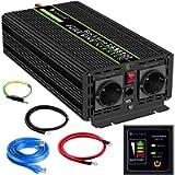 Novopal-Power Inverter Onda Sinusoidale Pura 1500W 3000W Trasformatore di Potenza Convertitore- DC 12v in AC 220v 230v…