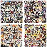 200 st. japanska tecknade anime vinylklistermärken Haikyuu Naruto My Hero Academia Demon Slayer klistermärken för bärbar dato