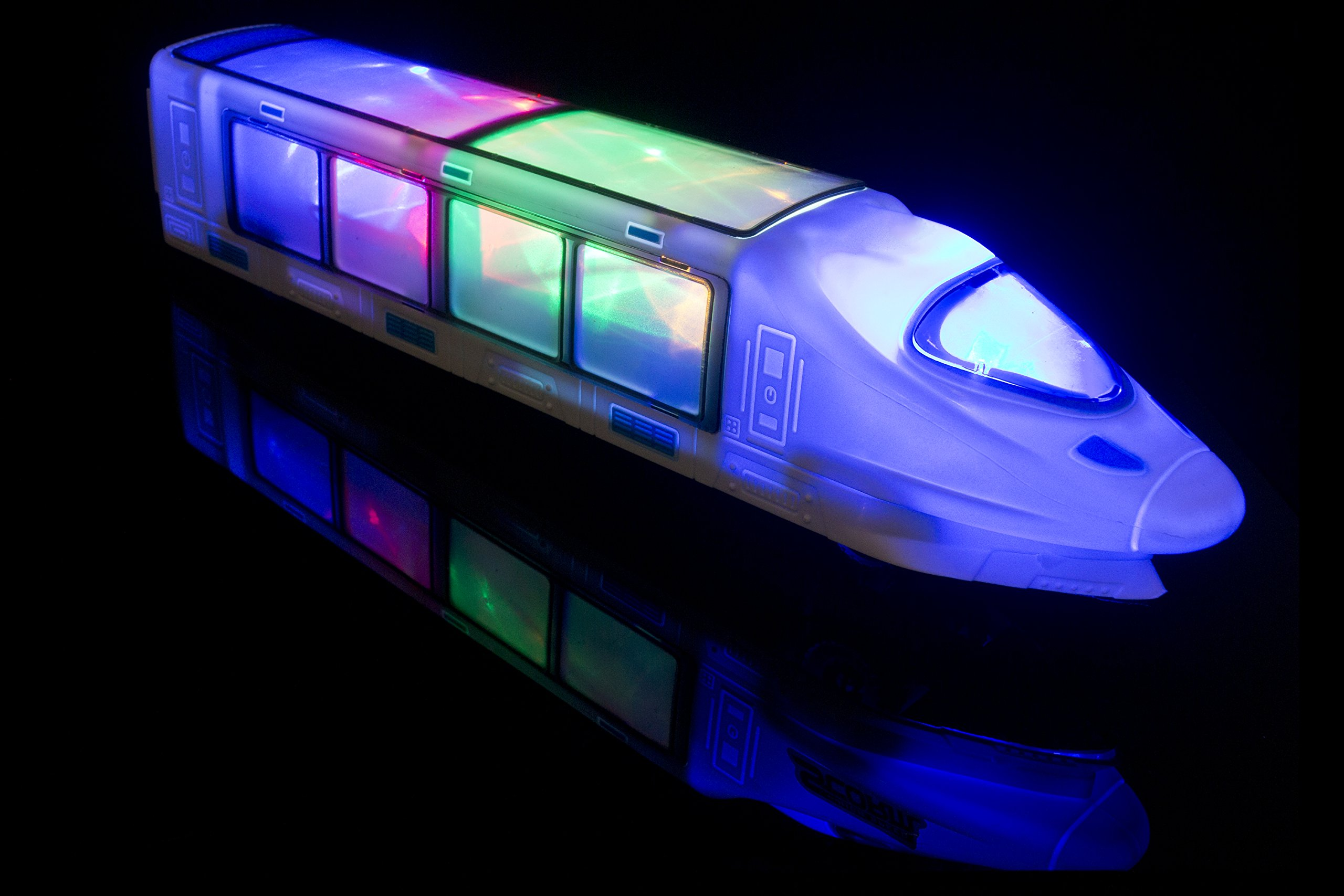 Ferrocarril eléctrico para niños – Con iluminación LED y música. Gran regalo de Navidad y de cumpleaños. Regalo para niños desde y mayores de 3 años.