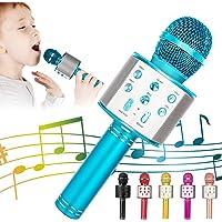 KIDWILL Microphone Bluetooth Karaoké Sans Fil, 5-en-1 Radio FM, Portable Karaoké Micro, Haut-parleur, Lecteur…