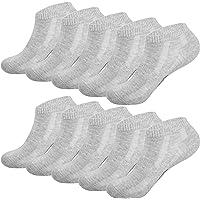 Anqier 8/10 Pairs Ankle Socks, Cotton Trainer Socks for Men Women Sports Running Socks Non-slip, Breathable Low Cut…