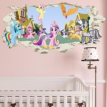 Children Pony My Little Pony Art 3d Window Wall Sticker Art Decals