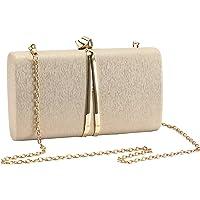 UBORSE Abendtasche Damen Blumen Clutch Bag Kette Shiny Elegante Handtasche Umhängetasche für Hochzeit Party