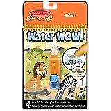 Melissa & Doug |Water Wow| Bloc d'activités de coloriage à révélation à l'eau réutilisable | Safari | 3+