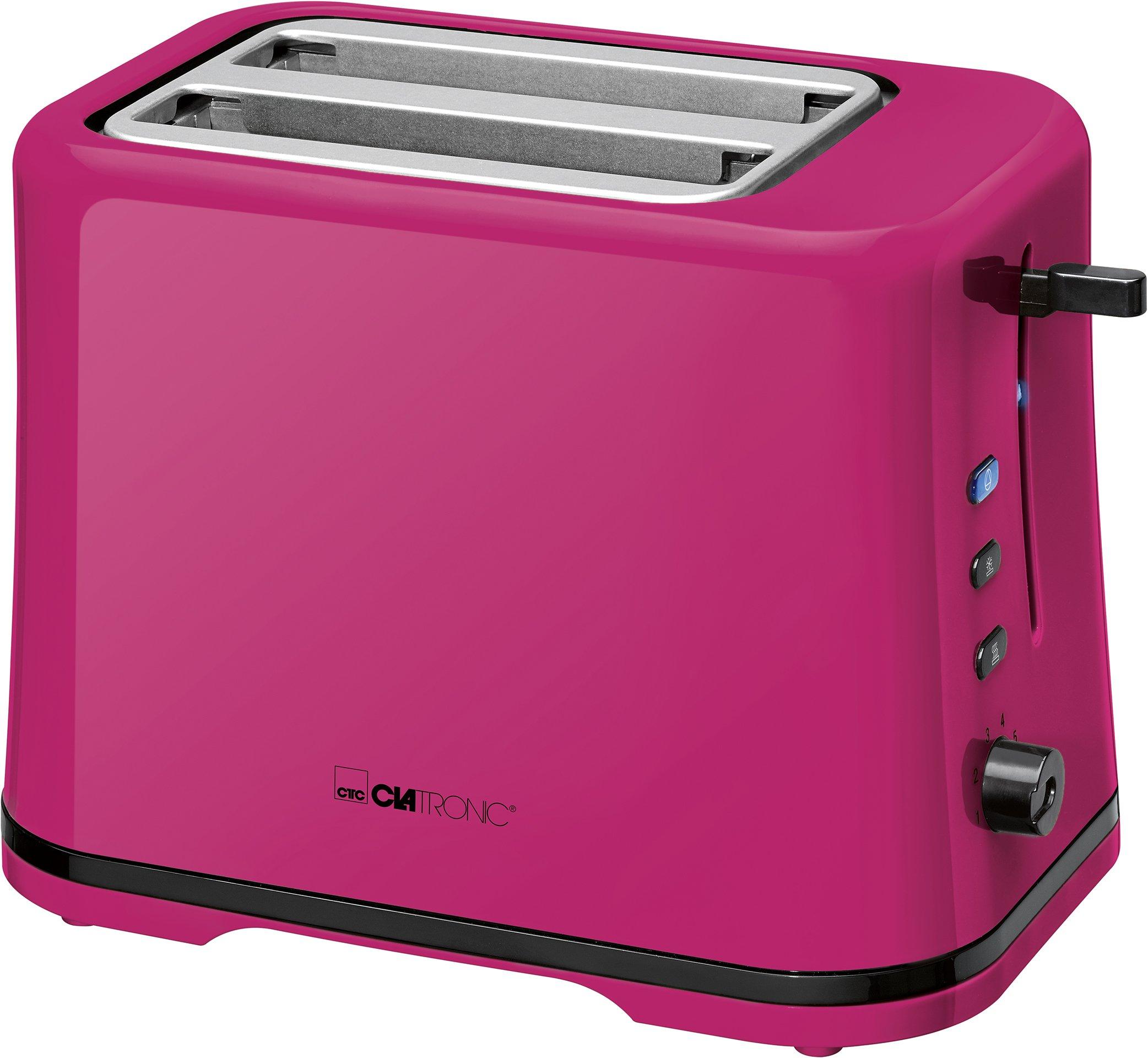 Clatronic-TA-3554-Kompakter-2-Scheiben-Toaster-Brtchenaufsatz-abnehmbar-Aufwrm-Auftau-Schnellstoppfunktion-stufenlos-einstellbarer-Brunungsgrad-Krmelschublade