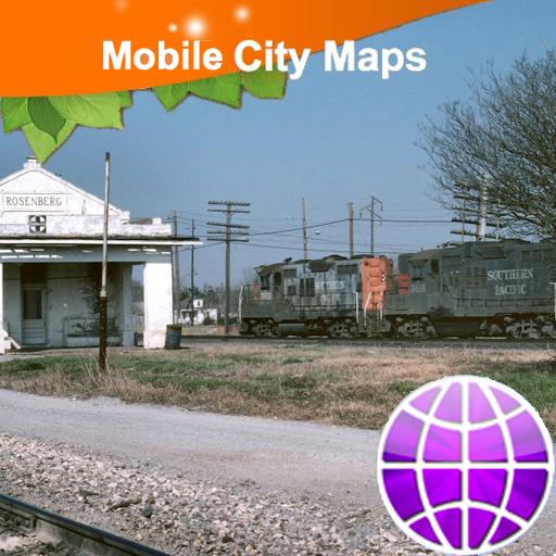 Katy Richmond Rosenberg Street Map -