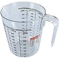 Zenker 008811 Verre doseur, verre mesureur, verre doseur pâtisserie, cruche graduée, Plastique, Transparent, 17 x 15,5 x…