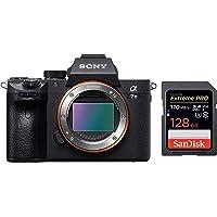 Sony Alpha ILCE-7M3 Full-Frame 24.2MP Mirrorless Digital SLR Camera Body (4K Vlogging Camera, Low Light Camera) + SanDisk 128GB Extreme Pro SDXC UHS-I Card - C10, U3, V30, 4K UHD, SD Card