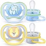 Philips Avent Ultra Air Napp - En lätt napp som andas - Ortodontisk och BPA-fri - Lämplig för ålder 0-6 mån - 2-pack - SCF085