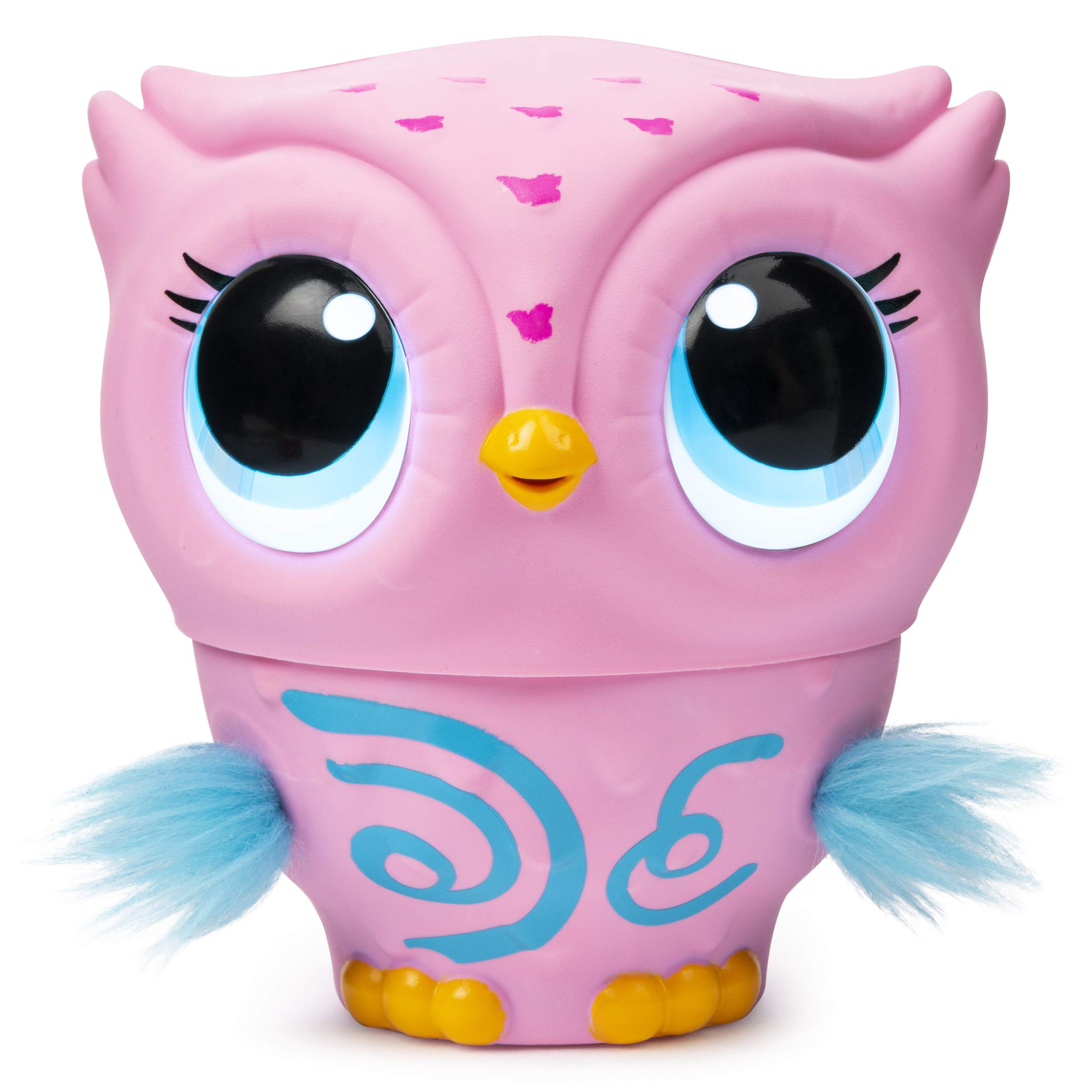 Owleez-6053359-Flying-Baby-Owl-Interactive-Toy-with-Lights-and-Sounds-Pink-for-Kids-Aged-6-and-Up-Pink