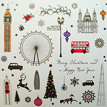 merry christmas happy new year boxed christmas cards 6 cards per box neb5