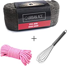 UrbanAce Steel Wool Photography Kit 1 X Steel Wool 0000 , 1 X Metal Whisk, 1 X Rope