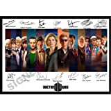ALL NEW LISTING STUNNING QUALITY SIGNED DOCTOR WHO PRINT ALL DOCTORS DR WHO