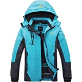 Wantdo Chaqueta de Esquí Cálida para Mujer con Forro Polar Chaqueta de Snowboard Impermeable con Capucha Abrigo de Montaña Im