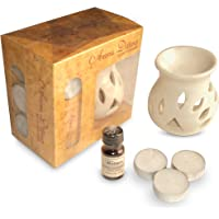 Pure Source India Ceramic Aroma Set (White)