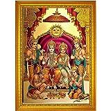 ADA Handicraft Premium Shri Ram Sita MATA Lakshmana Ji with Hanuman Ji Photo Frames for Wall and Pooja/Poster for Pooja/Relig