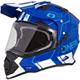 O'Neal Sierra II Comb Motocross Motorrad Helm MX Enduro Trail Quad Cross Offroad Gelände, 0817, Farbe Blau Weiß, Größe S
