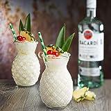 Utopia Hawaii Tiki R90202-00000-B01006 Lot de 6 verres à cocktail en forme d'ananas - 520 ml