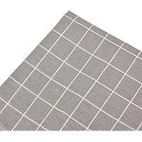 Tissu en Lin Imprimé Bricolage Patchwork Vichy Carreaux Coupon DIY Quilting Textile Artisanat Bundle Écologique Couture…