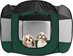 Furhaven Mesh Pet Playpen