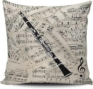 Clarinet Pattern Body Pillow | Zazzle