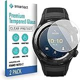 smartect Panzerglas kompatibel mit Huawei Watch 2 [2 Stück] - Tempered Glass mit 9H Härte - Blasenfreie Schutzfolie…