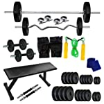Body Maxx Home Gym 40 Kg Flat Bench Combo 14