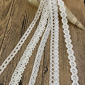 Ototec 12 M X 2 Cm Cotone Lace Edge Trim Ribbon Craft Cotone