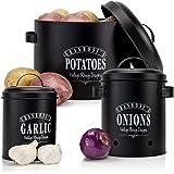 Granrosi Set de boîtes de conservation, pot de pommes de terre, d'oignons et d'ail, au design vintage, pour un rangement élég
