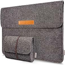 Inateck 13,3 Zoll Macbook Air/Pro Retina/12,9 Zoll iPad Pro Laptop-Tasche Filz Sleeve Hülle Ultrabook Dunkelgrau