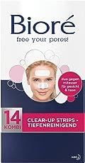 Bioré Clear up Strips - 2 x 14 Stück - Gesicht (14 Strips) und Nase (14 Strips) - tiefenreinigend, mit Witch Hazel