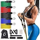 MAIGG Bandas Elasticas Musculacion,Set de Bandas de Resistencia con Cinco Tubo de Látex,Bandas de Resistencia Fitness para Yo