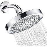 Fixed Shower Head - Cobbe Luxury Modern High Pressure Shower Head 6 Inches ABS Chrome Round Universal Rain Shower Head Adjust