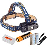 Fenix HL60R 950 Lumens (Black or Desert Yellow Finish) Rechargeable LED Headlamp with Rechargeable Battery, USB Charging Cabl