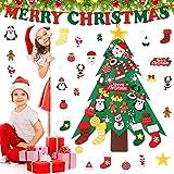 Joyhoop arbol de Navidad en Fieltro, 3ft árbol de Navidad de Fieltro con 32pcs Árbol de Navidad para Niños Juguetes Educativo
