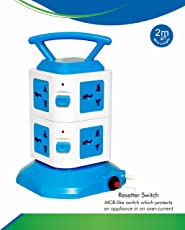 ProDot 8 Socket Plug (PSP-8S0U-2.0m) Surge Protector Tower Model-Multi Directional Multi-Country Input/2 Meters Cord Length/350 Joules 10000A 2500W