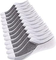Ueither Calcetines Cortos Hombre Invisibles Respirable Calcetines tobilleros Algodón Antideslizantes
