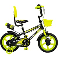 Hi Fast Kids Cycle for 2 Years to 5 Years Boys & Girls with Side Wheels (14T-Semi Assembled)