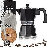 Milu Espresso Maker induktion   3, 6, 9 koppar   Mockakruka i aluminium, espressokruka, espressobryggarsats inklusive underlä