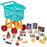 Battat - Grocery Cart – Deluxe Toy Shopping Cart with Pretend Play Food Accessories For Kids 3+ (23Piece)
