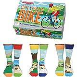 On Your Bike - United Oddsocks - 6 Oddsocks for Men UK 6-11 EUR 39-46 US 7-12