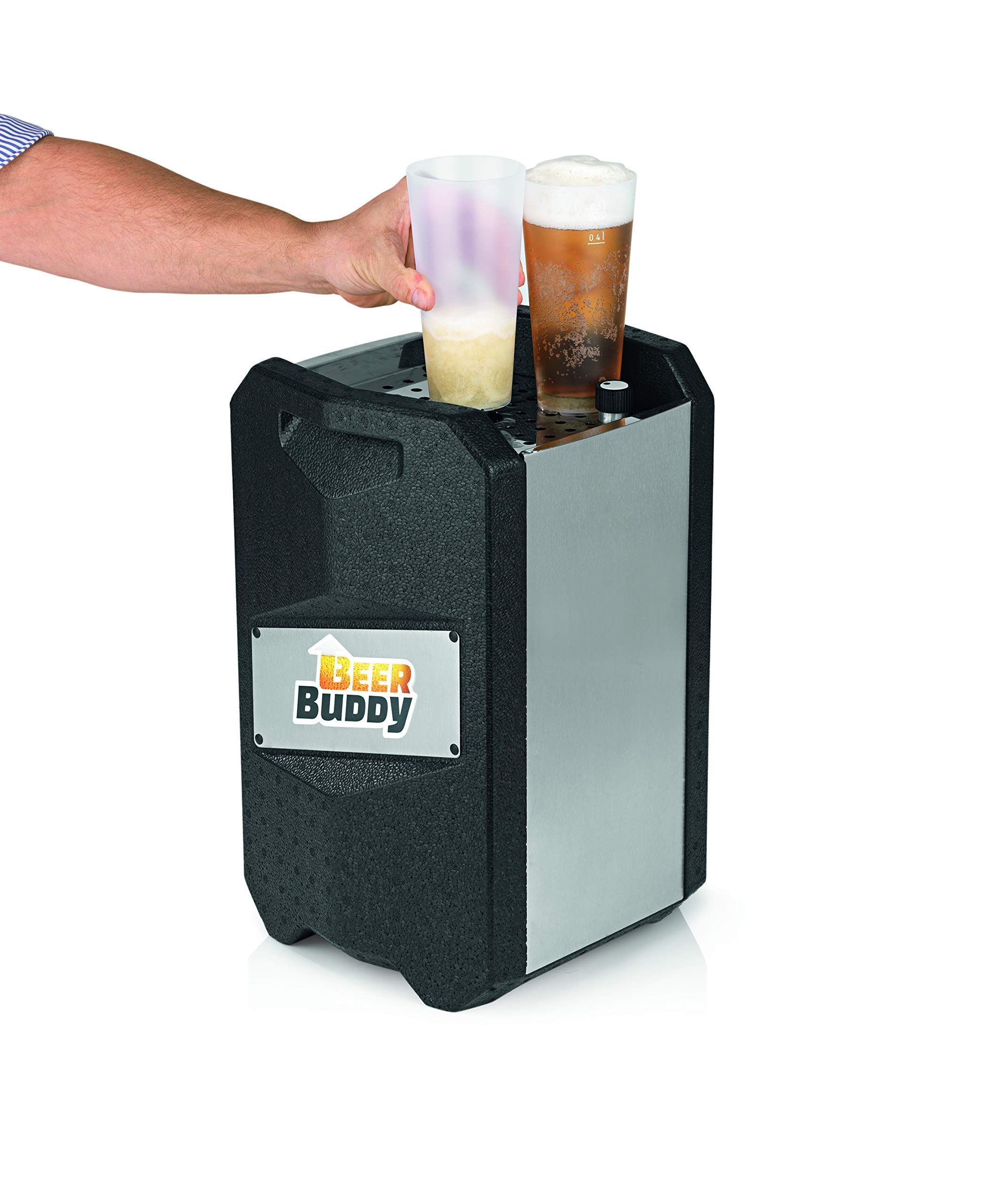 81c1W5DRYJL - Beer Buddy Version 2.0 latest version. Bottoms Up Beer Tap for 5 Litre Party Barrels